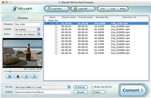 convert dvd and video to ipod on mac